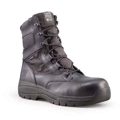 "Timberland PRO Unisex 8"" Valor Composite Safety Toe Waterproof Side-Zip Boot"