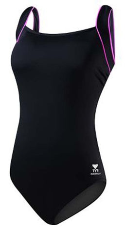 TYR Sport Women's Pink Square Neck Controlfit Swimsuit