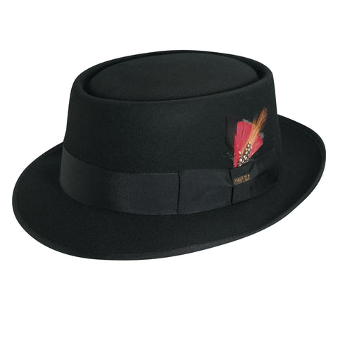Scala Classico Men's Wool Felt Porkpie Hats