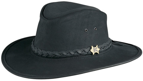Conner Men's BC Hats Bush And City Shapeable Australian Leather Hat