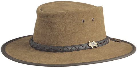 Conner Men's BC Hats Bush Walker Suede Australian Leather Hat
