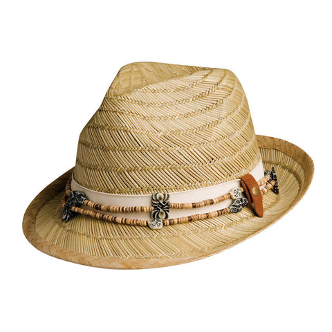 Conner Women's Barbados Fedora With Removable Necklace Hat