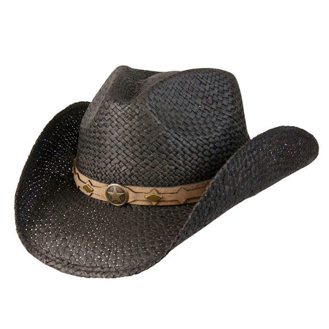 Conner Men's Country Western Raffia Shapeable Hat