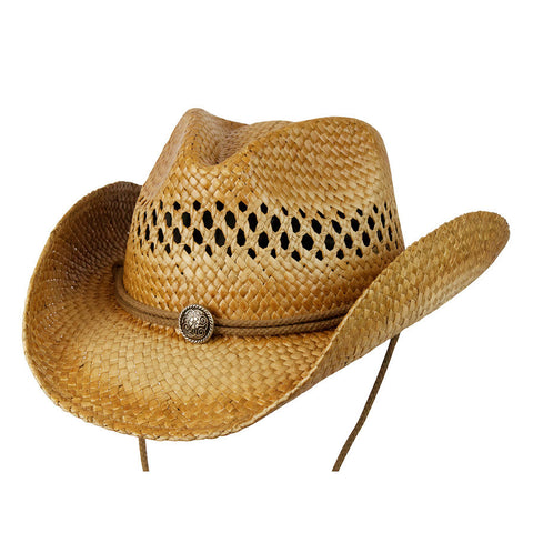 Conner Men's Chuck Shapeable Straw Western Hat