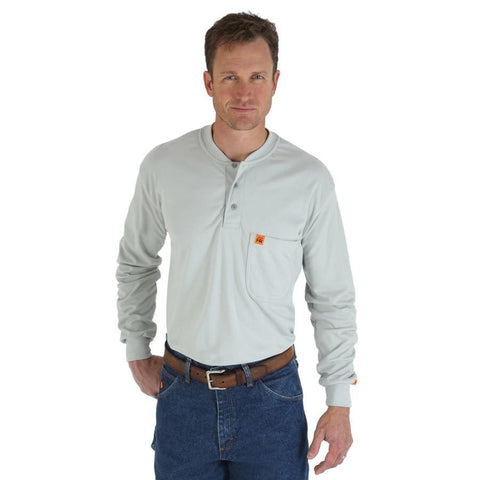 Wrangler Men's RIGGS Workwear Flame Resistant Long Sleeve Henley Shirt