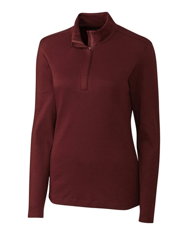 Cutter & Buck Women's L/S Belfair Pima Half Zip