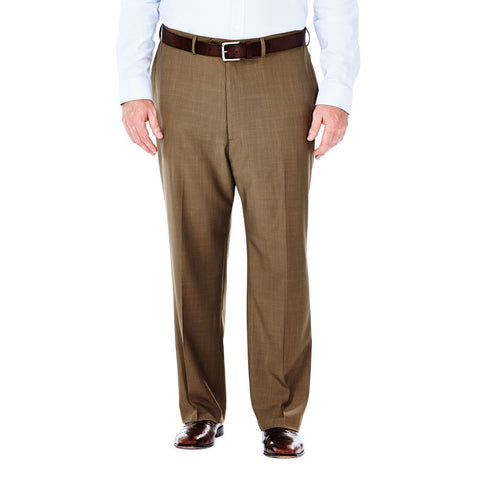 Haggar Men's BIG & TALL E-CLO™ Stria Flat Front Dress Pants