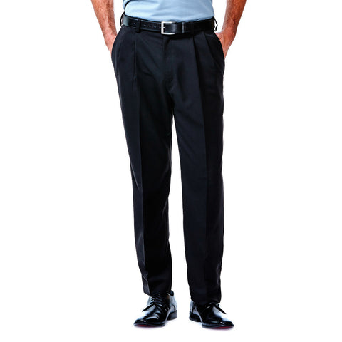 Haggar Men's Cool 18 Classic Fit Pleated Front Pants