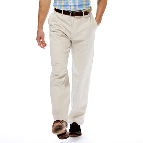Haggar Men's Work To Weekend Classic Fit Flat Front Khakis