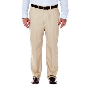 Haggar Men's Big & Tall Work To Weekend Flat Front Khakis