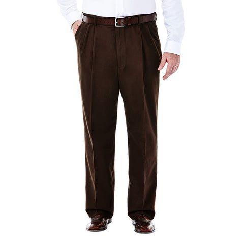 Haggar Men's Big & Tall Work To Weekend Pleated Front Khakis