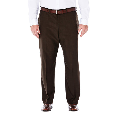Haggar Men's BIG & TALL eCLo™ Stria Flat Front Dress Pants