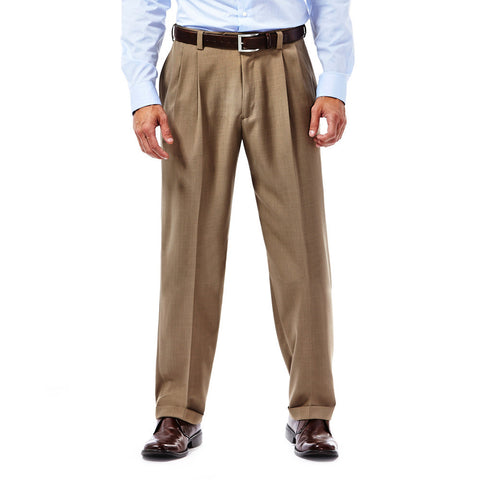 Haggar Men's E-CLO™ Stria Pleated Front Dress Pant