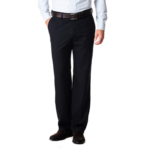 Haggar Men's Gabardine Flat Front Dress Pant