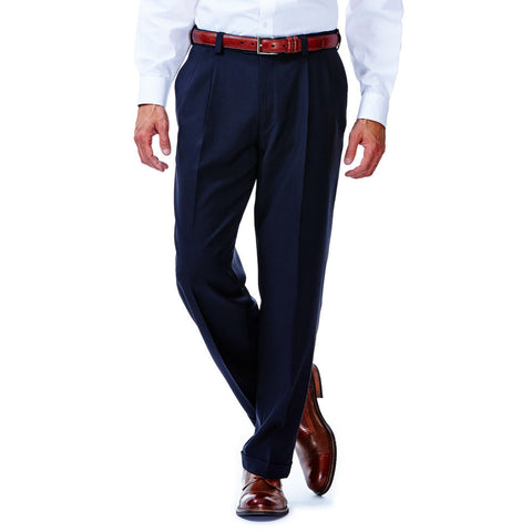 Haggar Men's eCLo™ Stria Pleated Front Dress Pant