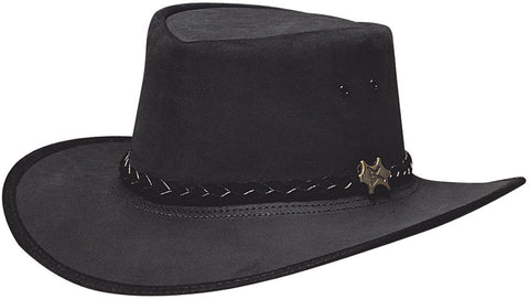 Conner Men's BC Hats Stockman Suede Australian Leather Hat