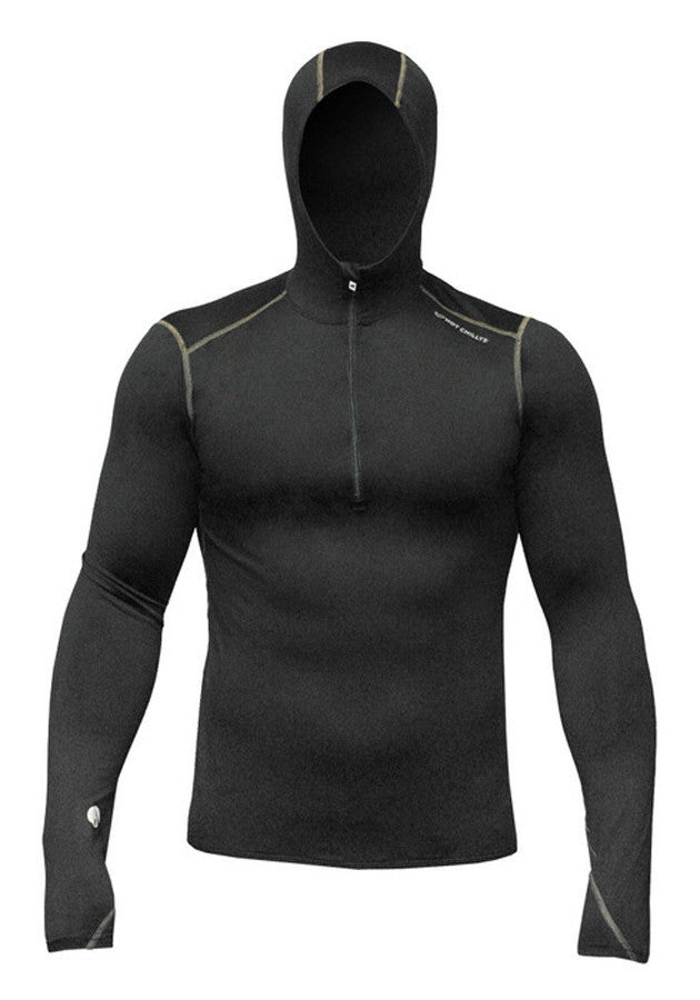 Hot Chillys Men's F8 Performance Hooded Pullover