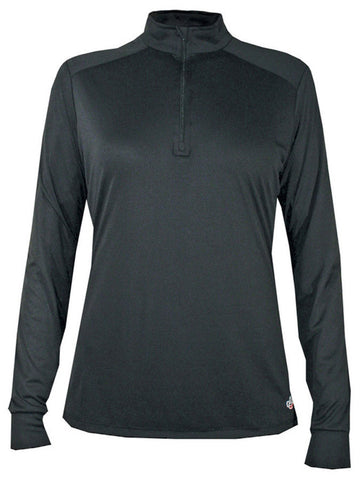 Hot Chillys Women's Solid Zip-T