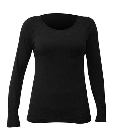 Hot Chillys Women's MTF Solid Scoopneck