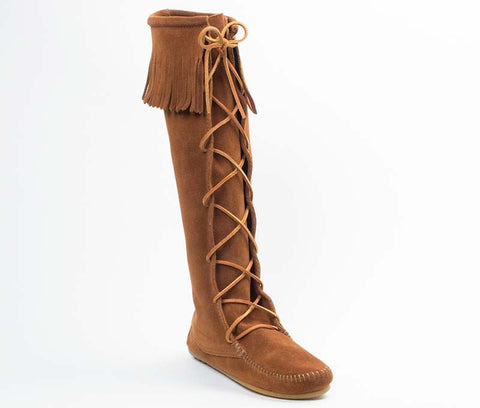 Minnetonka Women's Front Lace Knee High Boot