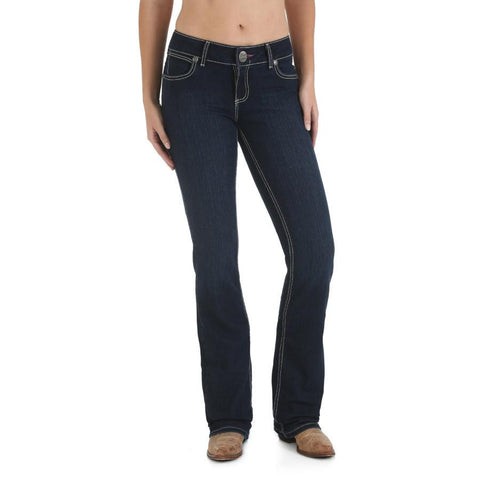 Wrangler Women's Premium Patch with Booty Up Technology Jean