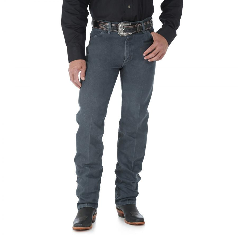 Wrangler Men's Cowboy Cut Original Fit Jean (Prewashed Charcoal Gray)