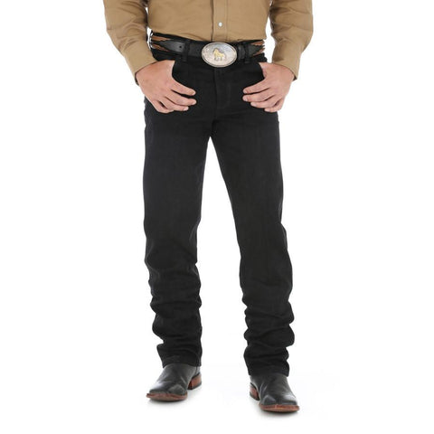 Wrangler Men's Premium Performance Cowboy Cut Regular Fit Jean (Black)