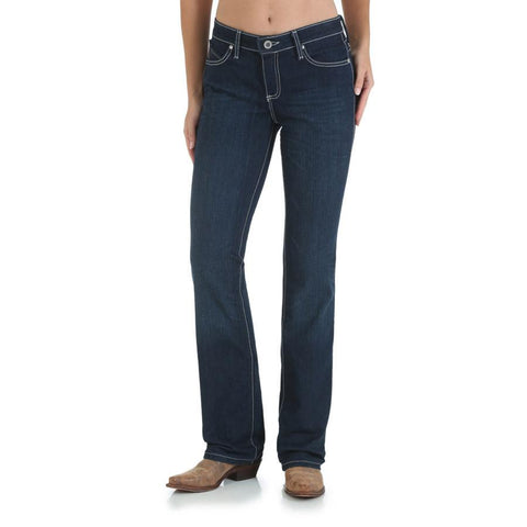 Wrangler Women's Cowgirl Cut Ultimate Riding Jean - Q-Baby with Booty Up Technology
