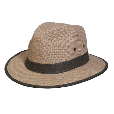 Conner Men's Black Creek Safari Hemp Hat