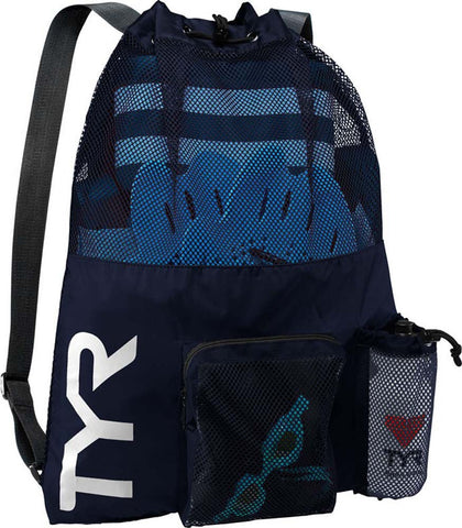 TYR Men's Big Mesh Mummy Backpack Navy