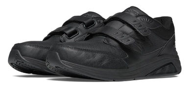 New Balance Men's Hook and Loop Leather 928v2 Walking Shoe Black