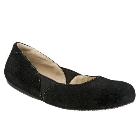 Softwalk Women's Norwich Flat, Black Suede
