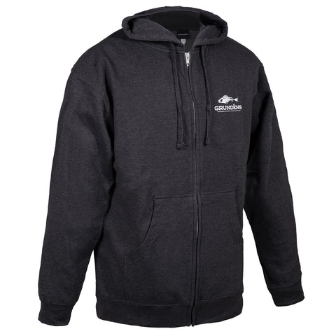 Grundens Men's Full Zip Outdoor Hoodie, Black