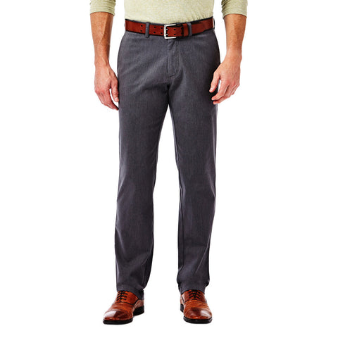 Haggar Men's Life Khaki Sustainable Slim Fit Flat Front Chino