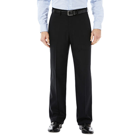 Haggar Men's Expandomatic Stretch Dress Pant - Classic Fit, Flat Front, Expandomatic Waistband