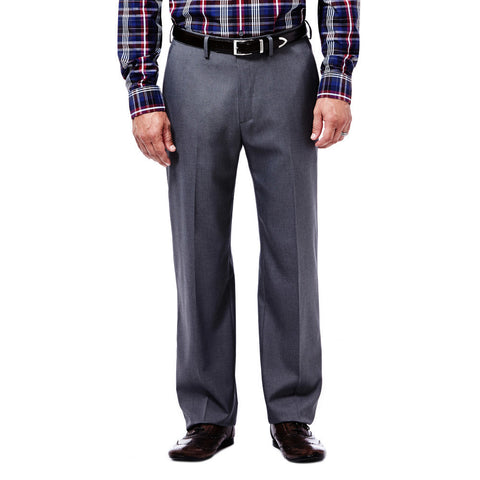 Haggar Men's Expandomatic Stretch Heather Dress Pant - Classic Fit, Flat Front, Expandomatic Waistband
