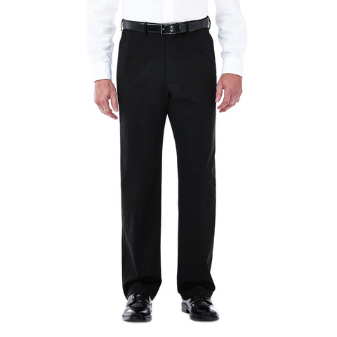 Haggar Men's Big & Tall Premium Stretch Solid Dress Pant - Classic Fit, Flat Front, Hidden Expandable Waistband