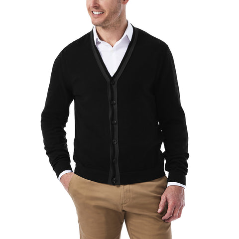 Haggar Men's Lightweight Button Down Cardigan
