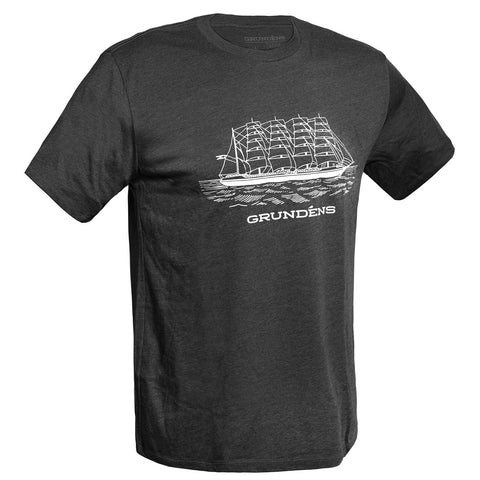 Grundens Men's Ship Logo Tee, Charcoal