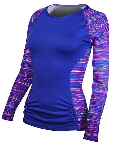 TYR Women's Aria Long Sleeve Rashguard Pink/Purple