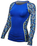 TYR Women's Aria Long Sleeve Rashguard Navy/Multi