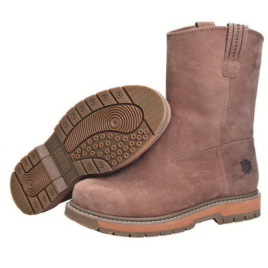 Muck Boot Men's Wellie Classic Comp Toe Wide Brown