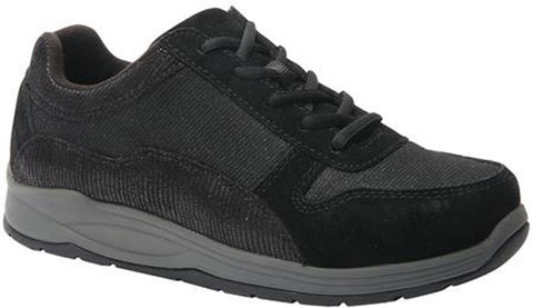 Drew Shoes Women's Tuscany Shoes Black Suede/Black Mesh