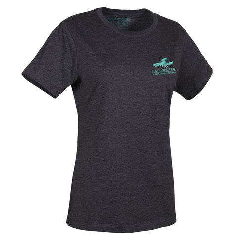 Heather Charcoal with Pool Blue Logo