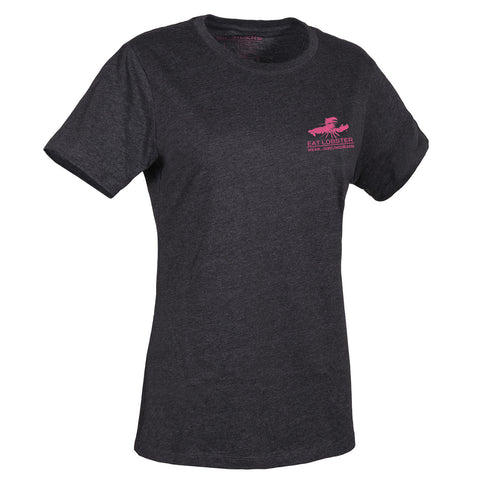 Grundens Women's Eat Lobster T-Shirt, Pink Logo