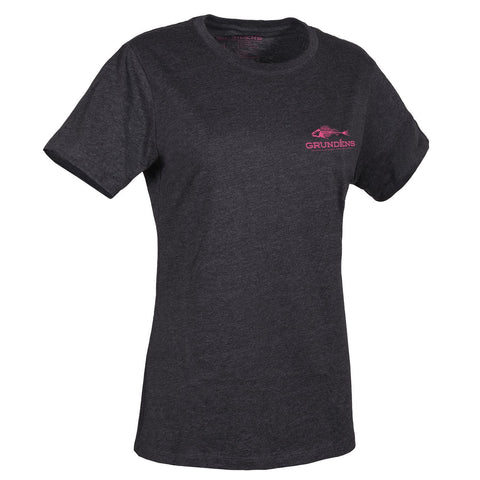 Heather Charcoal with Fandango Pink Logo