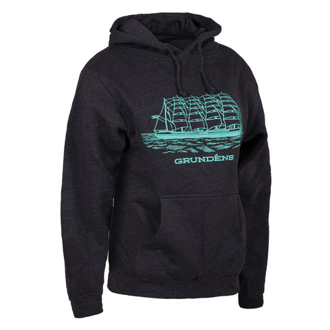 Grundens Women's Women's Ship Logo Hoodie, Pool Blue Logo