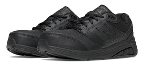 New Balance Women's Leather 928v2 Walking Shoe (D) Black