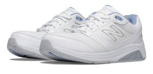 New Balance Women's Leather 928v2 Walking Shoe (B) White/Blue