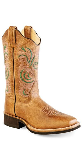 43959bdc15b Old West 18113 Women s Broad Square Toe Leather Boot.  128. View · Tan Fry